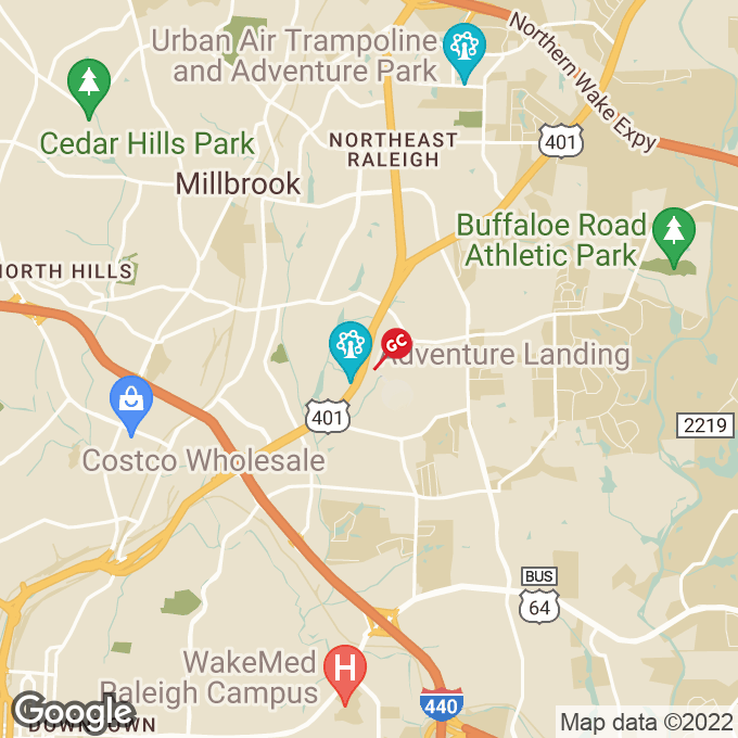Golden Corral Capital Boulevard, Raleigh, NC location map