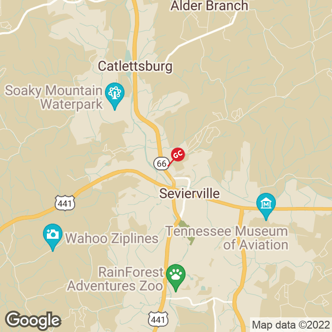 Golden Corral Winfield Dunn Parkway, Sevierville, TN location map