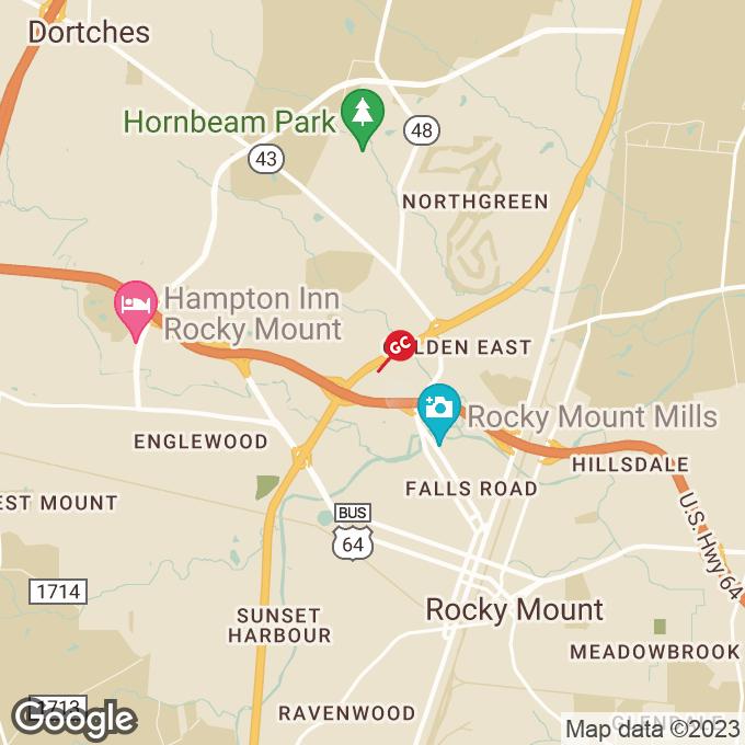 Golden Corral N. Wesleyan Blvd., Rocky mount, NC location map