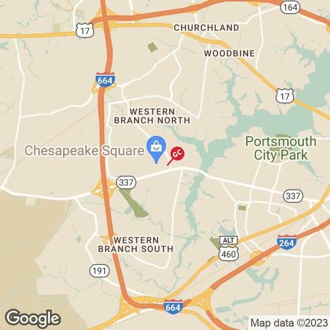 Golden Corral Chesapeake Square Ring Rd, Chesapeake, VA location map