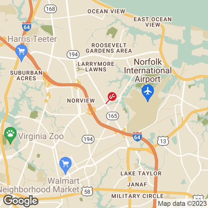 Golden Corral N. Military Highway, Norfolk, VA location map