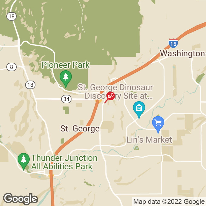 Golden Corral South River Road, St george, UT location map