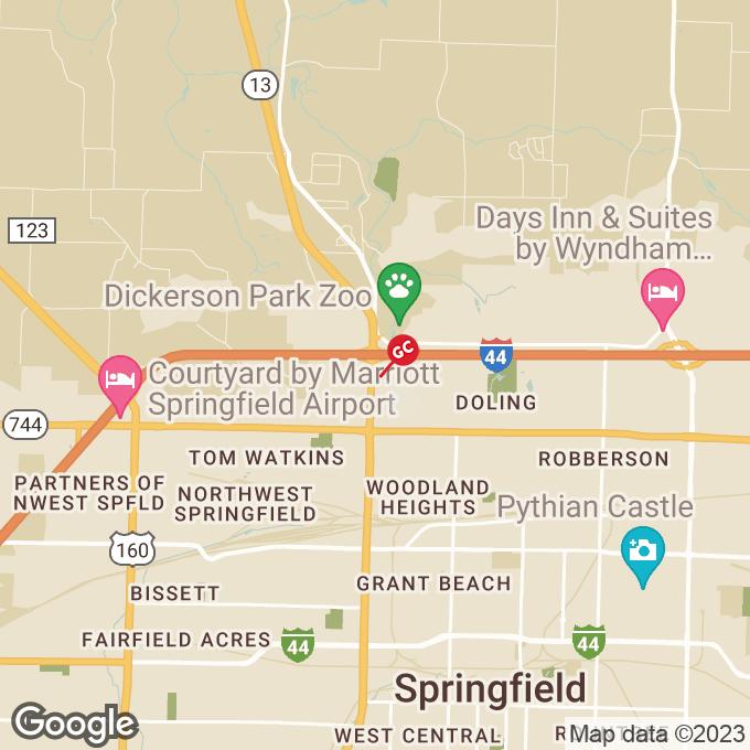 Golden Corral N. Kansas Expressway, Springfield, MO location map