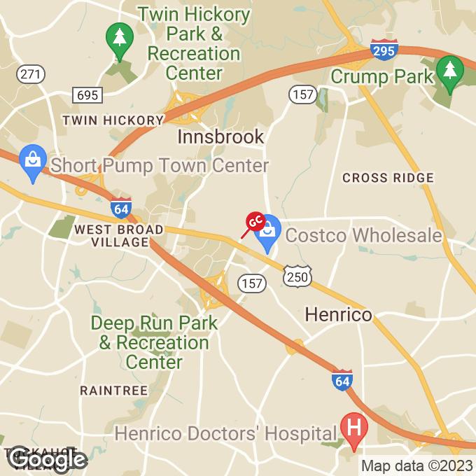Golden Corral Gaskins Road, Glen allen, VA location map