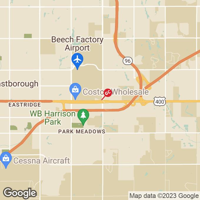 Golden Corral E Kellogg Street, Wichita, KS location map
