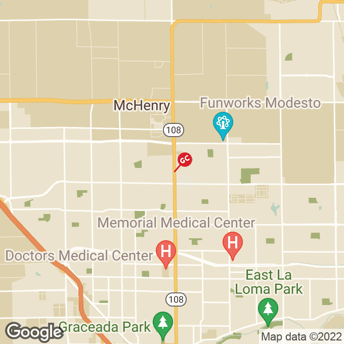 Golden Corral Mchenry Ave, Modesto, CA location map