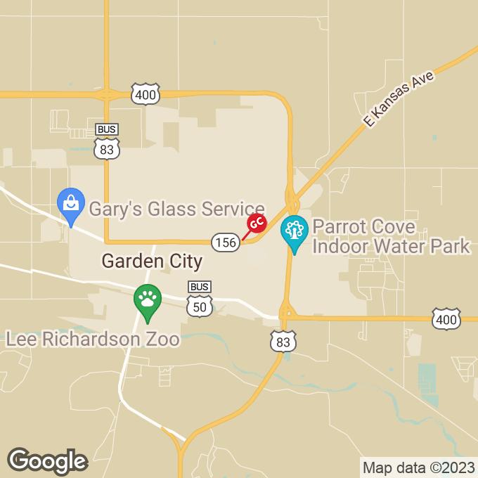 Golden Corral E. Kansas Plaza, Garden city, KS location map