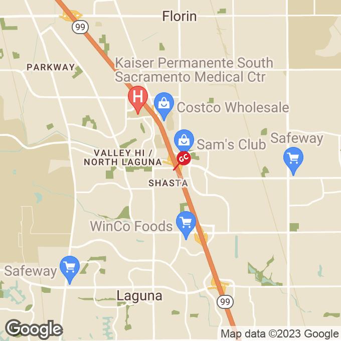 Golden Corral W. Stockton Blvd., Sacramento, CA location map