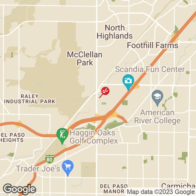 Golden Corral Watt Ave, North highlands, CA location map