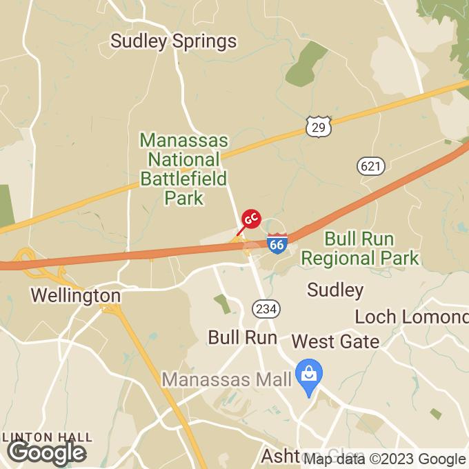 Golden Corral Bulloch Drive, Manassas, VA location map