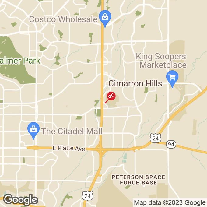 Golden Corral Waynoka Road, Colorado springs, CO location map