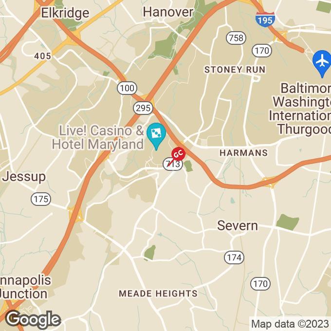 Golden Corral Arundel Mills Blvd., Hanover, MD location map