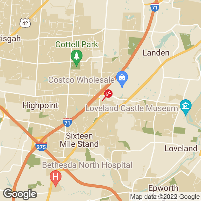 Golden Corral Mason Montgomery Road, Cincinnati, OH location map