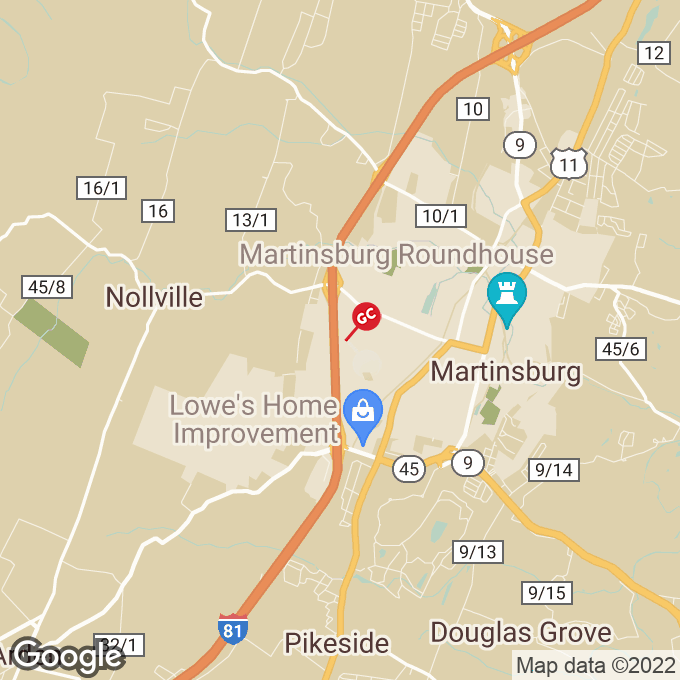 Golden Corral Foxcroft Avenue, Martinsburg, WV location map