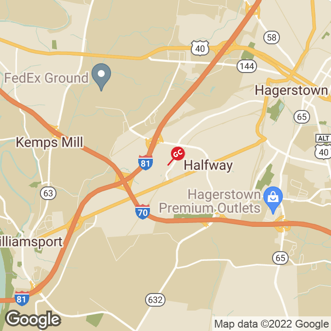Golden Corral Valley Mall Rd, Hagerstown, MD location map