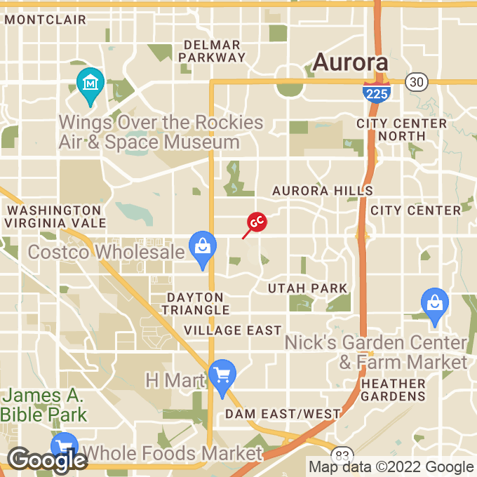 Golden Corral East Mississippi Avenue, Aurora, CO location map