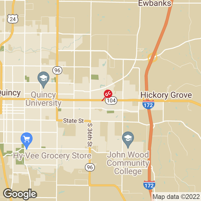 Golden Corral Broadway, Quincy, IL location map