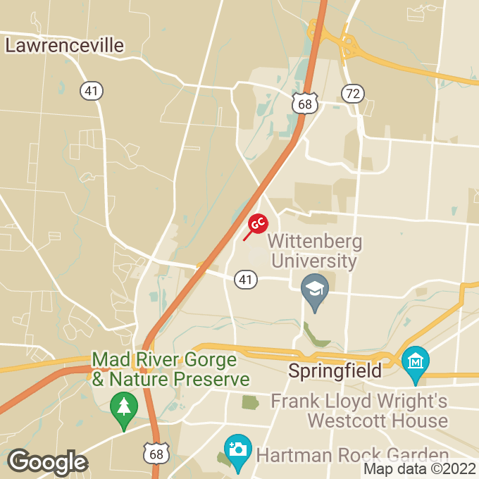 Golden Corral Bechtle Avenue, Springfield, OH location map