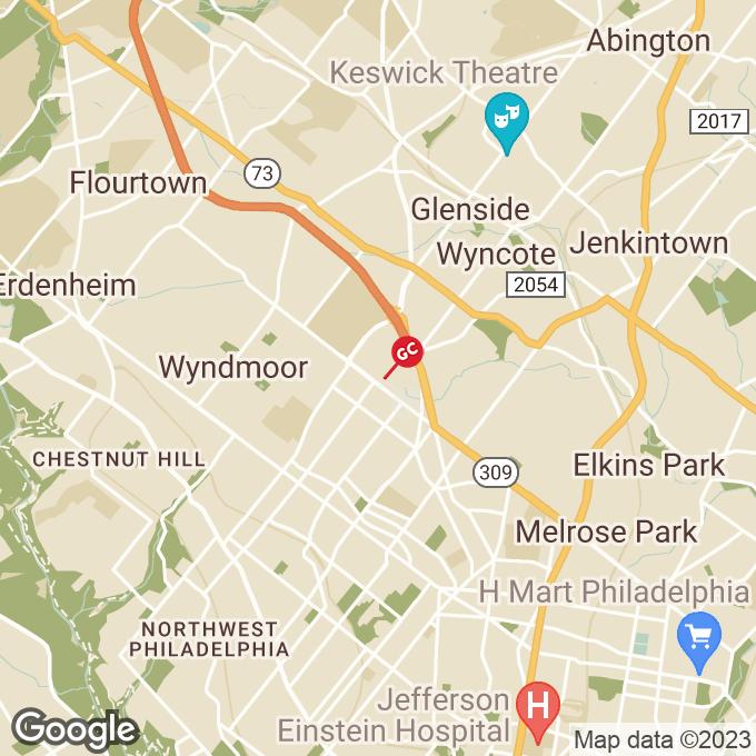 Golden Corral W. Cheltenham Ave., Wyncote, PA location map