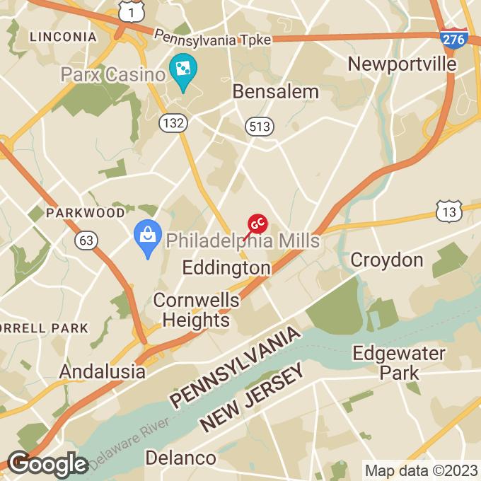 Golden Corral Street Road, Bensalem, PA location map