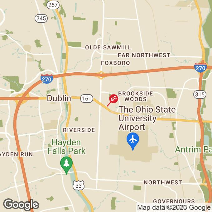Golden Corral West Dublin Granville, Columbus, OH location map