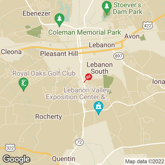 Golden Corral Quentin Road, Lebanon, PA location map