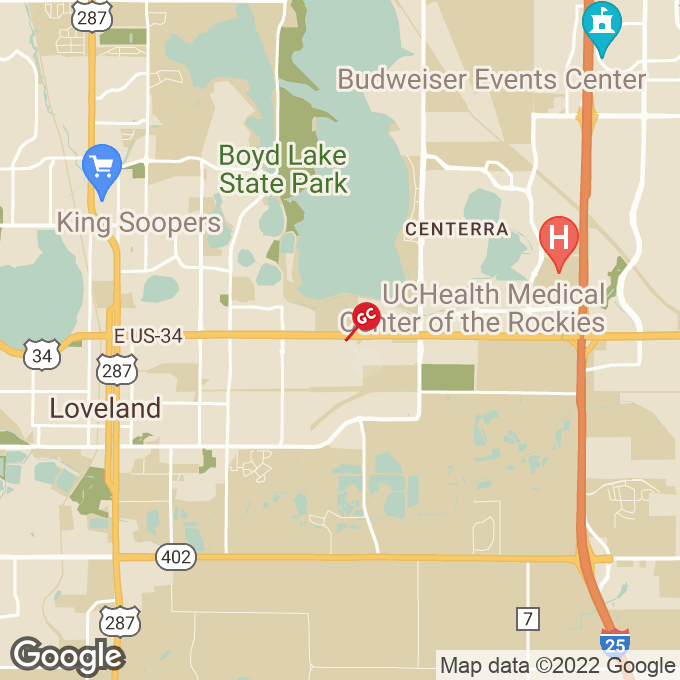 Golden Corral Sculptor Drive, Loveland, CO location map