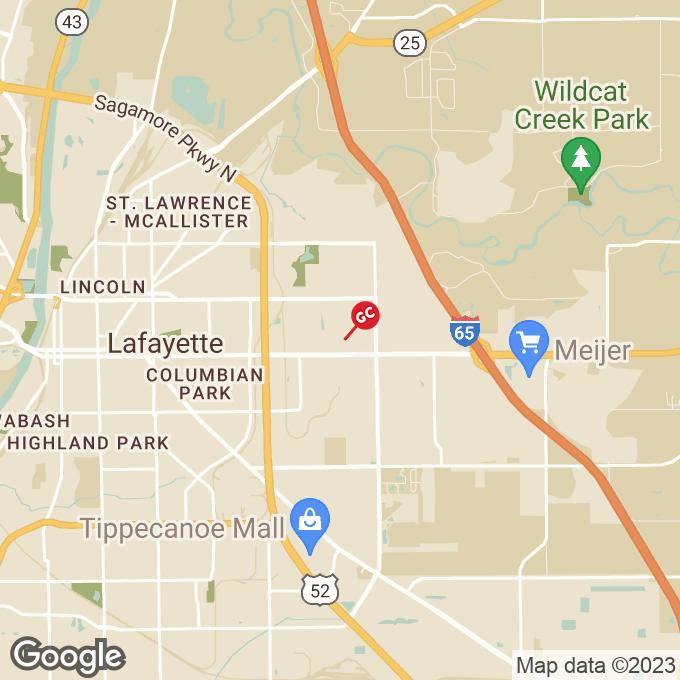 Golden Corral Shenandoah Drive, Lafayette, IN location map