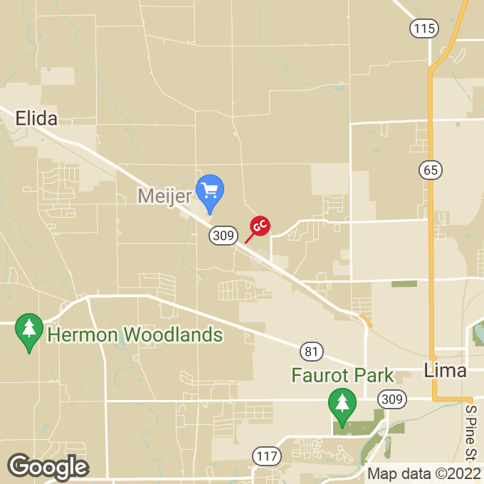 Golden Corral Elida Road, Lima, OH location map