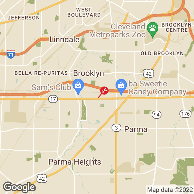 Golden Corral Brookpark Road, Cleveland, OH location map