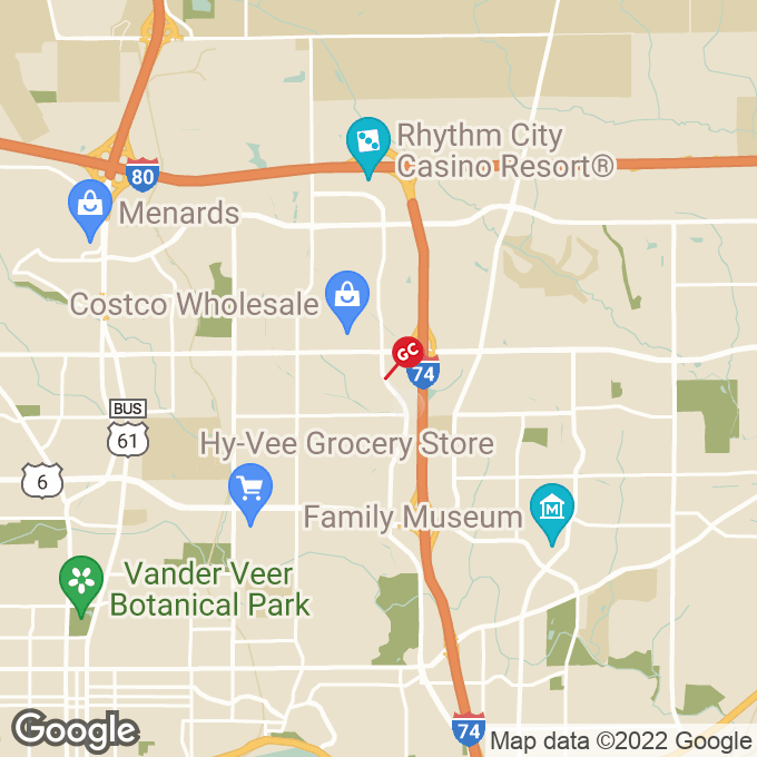 Golden Corral Elmore Avenue, Davenport, IA location map