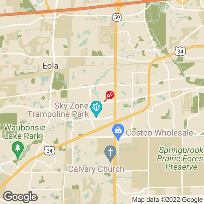 Golden Corral E New York Street, Aurora, IL location map