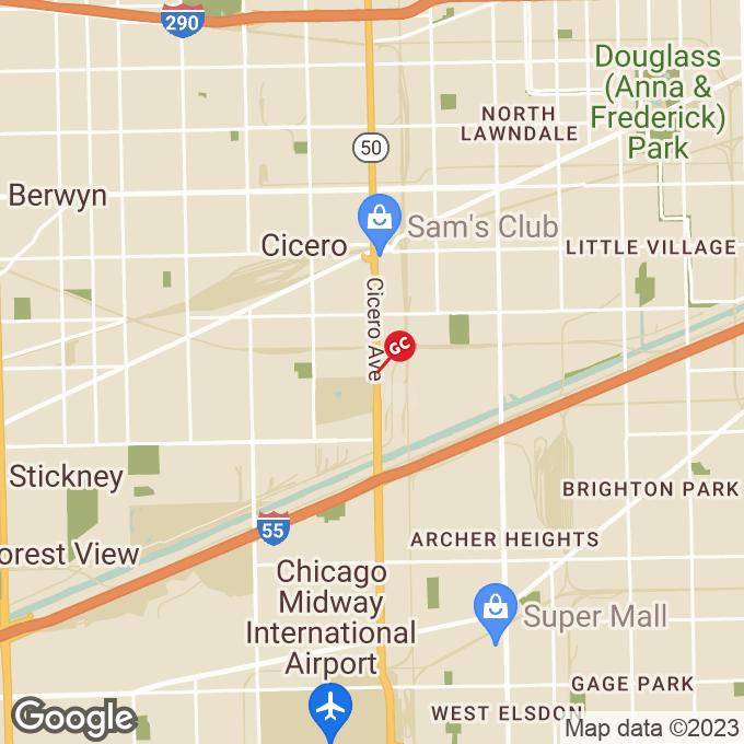 Golden Corral S Cicero Ave, Cicero, IL location map