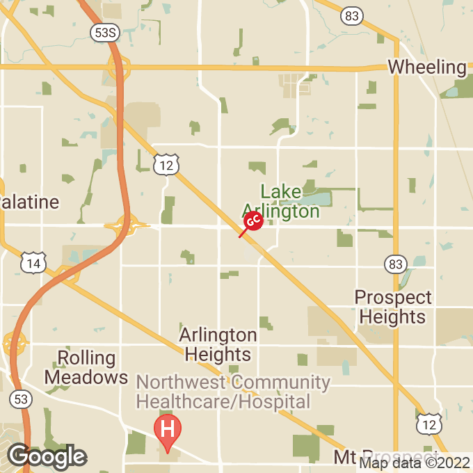 Golden Corral E Palatine Road, Arlington heights, IL location map