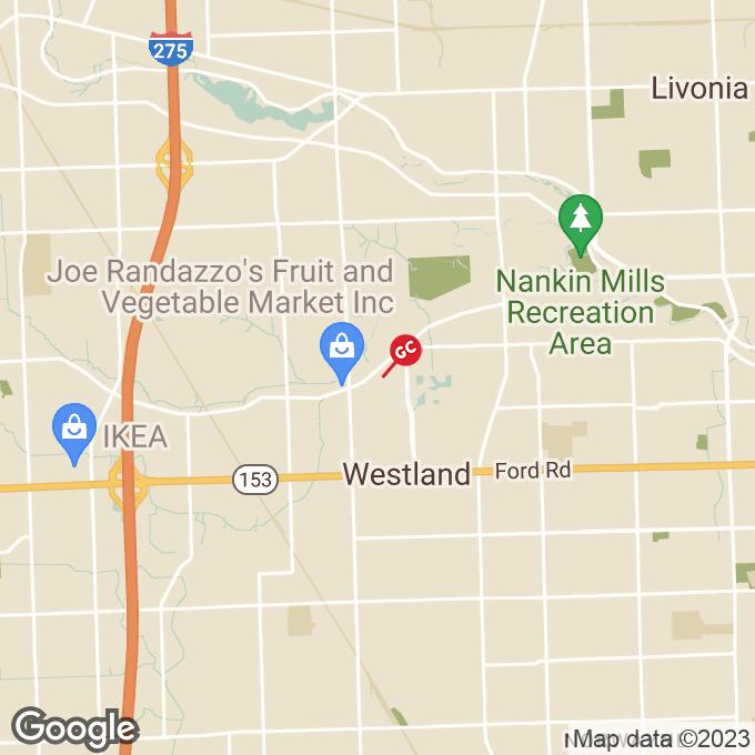 Golden Corral Warren Rd., Westland, MI location map