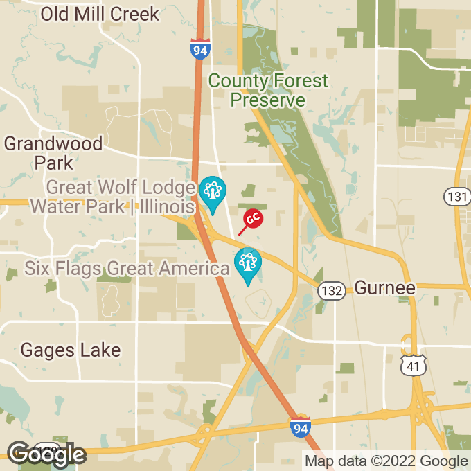 Golden Corral Dilleys Road, Gurnee, IL location map