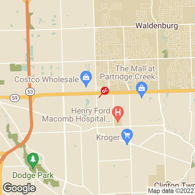 Golden Corral Hall Road, Clinton township, MI location map