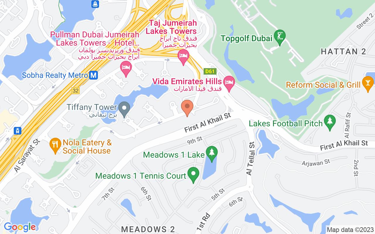 Google Map of 25.077183991105,55.1544358707306