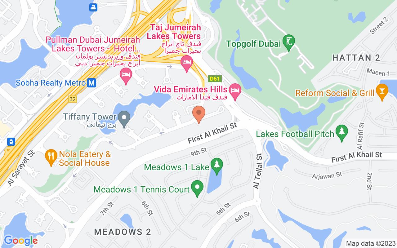 Google Map of 25.0773856292871,55.1549910879967