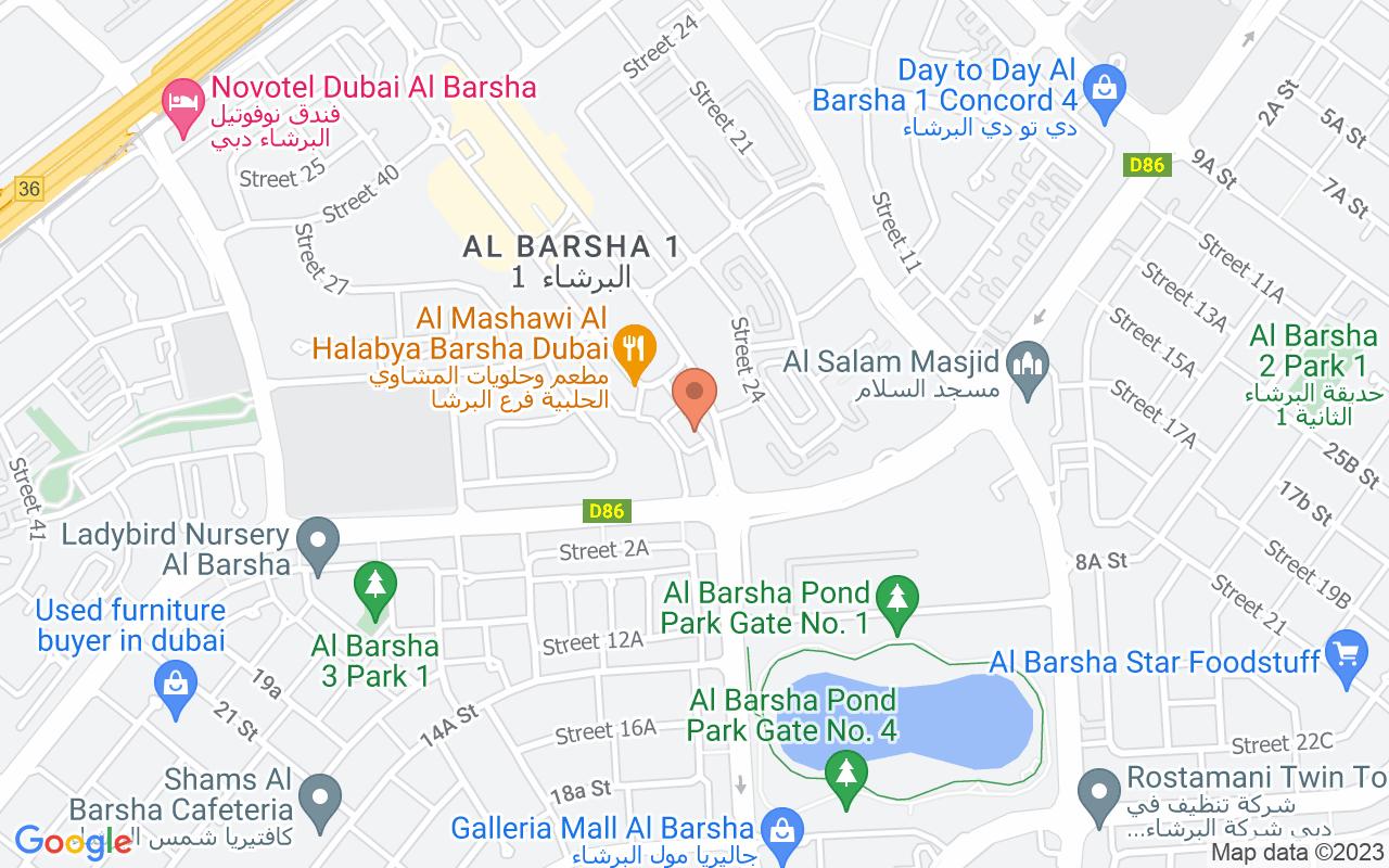 Google Map of 25.1071026075627,55.1986598857708