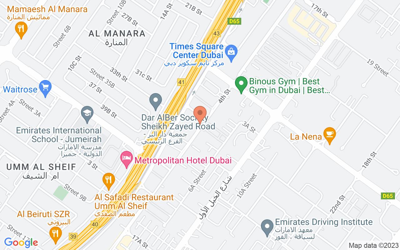 Google Map of 25.135666899726,55.2178468261045