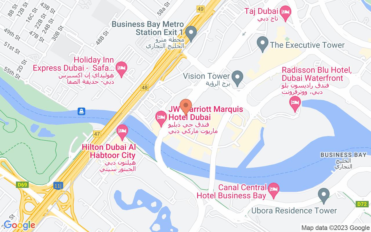 Google Map of 25.1861305067762,55.2599201546921
