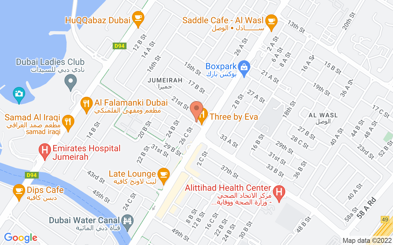 Google Map of 25.1991582311848,55.2474557898898