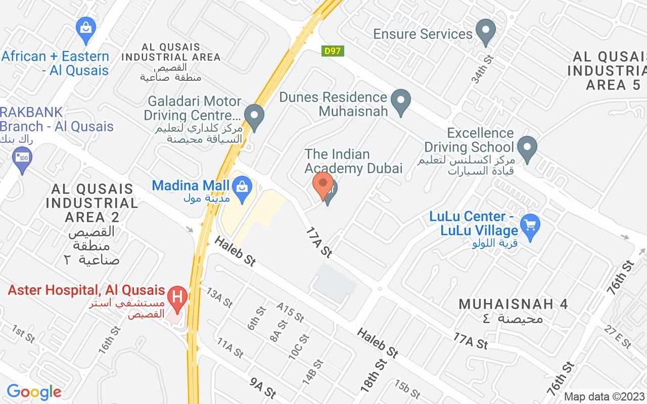 Google Map of 25.2820619514303,55.4017235502413