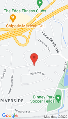 Map of Luxury Single Family Home on 132 Lockwood Road,Greenwich, CT
