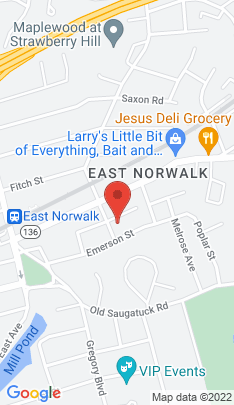 Map of Single Family Home on 33 Russell Street,Norwalk, CT