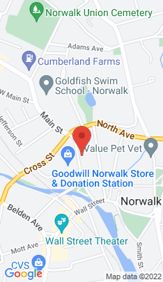 Map of Residential Property on 68 Main Street,Norwalk, CT