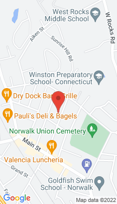 Map of Residential Property on 33 Center Avenue,Norwalk, CT