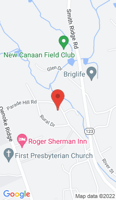 Map of Single Family Home on 98 Parade Hill Road,New Canaan, CT