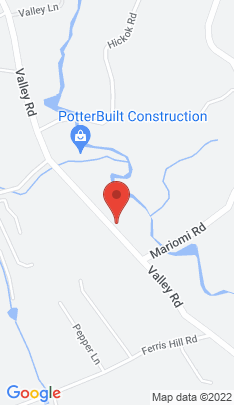 Map of Single Family Home on 591 Valley Road,New Canaan, CT
